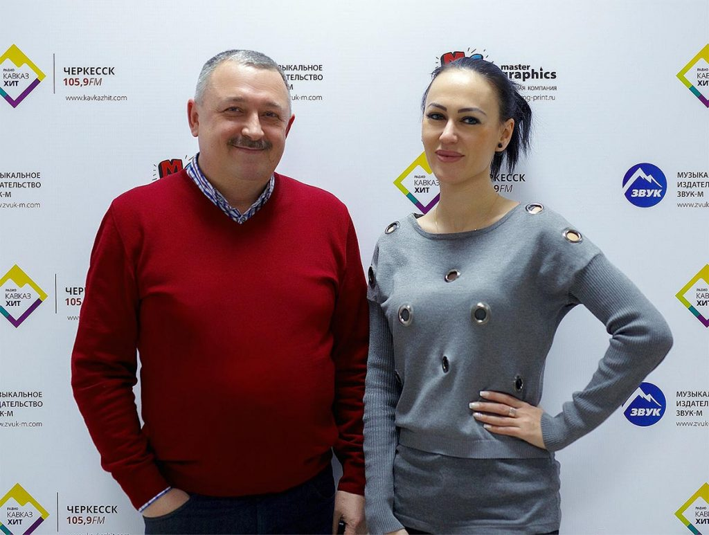 "Ruslana Sobiev in the office of the publishing house ""Sound-M"""