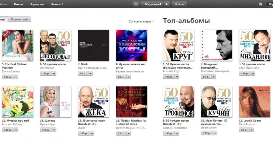 """Collection """"The Best Caucasian Hits"""" on 8 Place in iTunes Russia"""