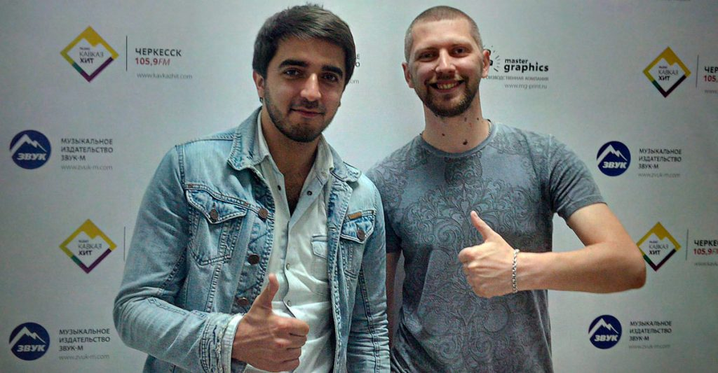 """In the office of the music publishing house """"Sound-M"""". Shami and Anton Maluneev."""