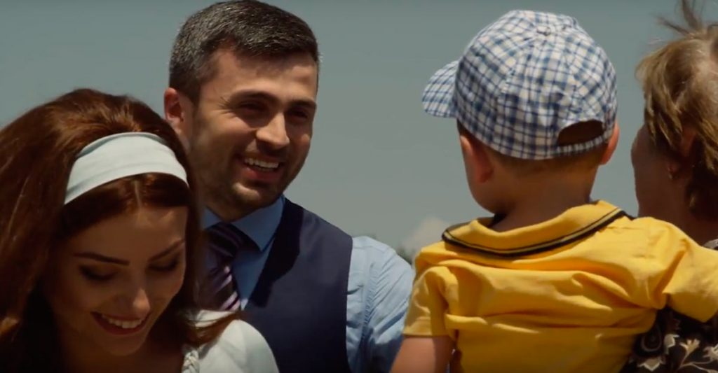 "Azamat Tsavkilov: ""This clip is a story about family values, home warmth, love and care."" Frame from video."