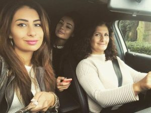 Zarina Bugaeva with her mother Aleta and cousin Aida
