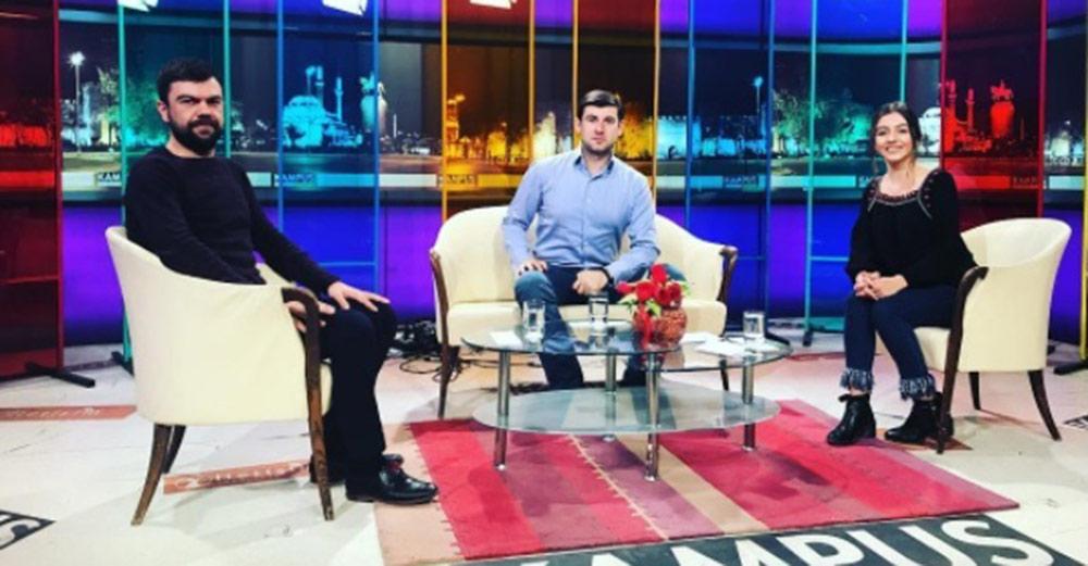 Азамат Биштов в эфире турецкого телеканала «KAMPUS»