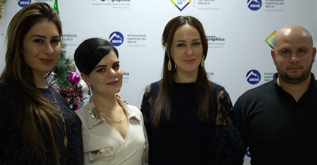 Артисты из Осетии в офисе «Звук-М»