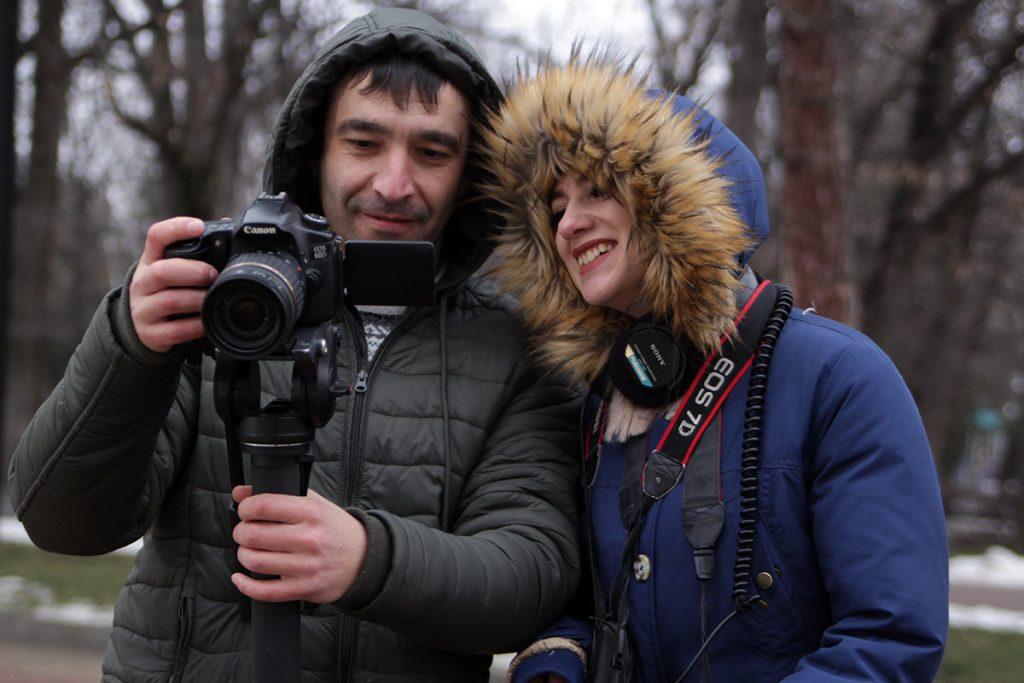Фотография со съёмочной площадки фильма Ислама Сатырова «Шёпот счастья»