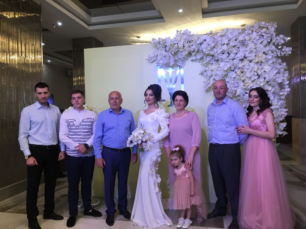 Ilona Kesaeva with family