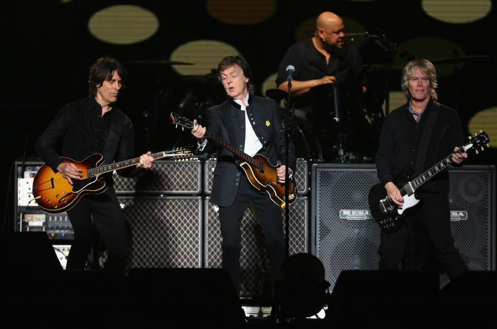 Photo of Paul McCartney at a concert dedicated to his 76 anniversary, June 2018. Provided by https://www.1035bobfm.com