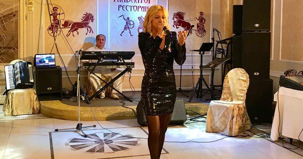 Выступление Елены Амур на юбилейном вечере Сергея Колесниченко