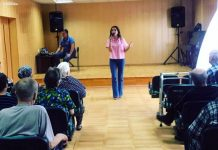 "Artists ""Sound-M"" performed in a boarding house for the elderly and disabled in Cherkessk"