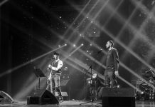"""At the anniversary concert of Parviz Nazarov, the famous performer Farzani @yunusfarzani performed the song """"Farewell"""" in a duet with a jubilee"""