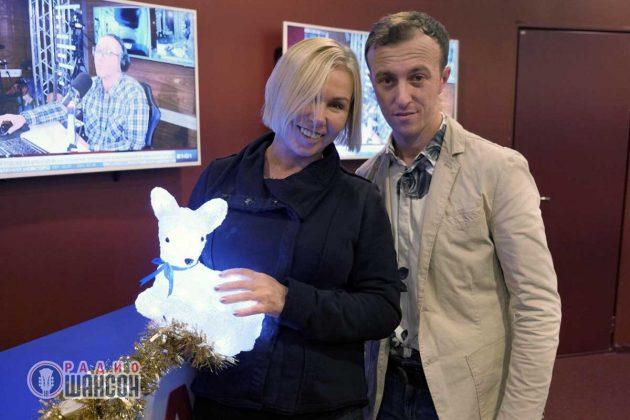 Гоша Грачевский и Ксения Стриж на «Радио Шансон». Фото. Декабрь 2019 года