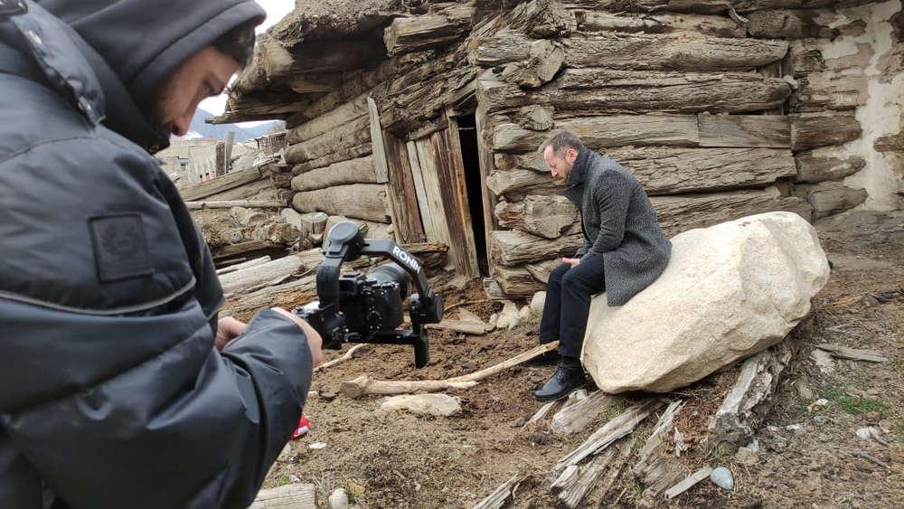 Фото со съёмочной площадки видео «Я вернулся домой»