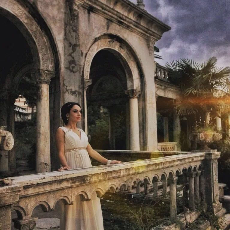 "Singer Anastasia Avramidi for three days of filming for the song ""I will marry you"" just fell in love with the indescribable beauty of Abkhazia!"