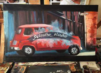 Офис компании «Petrucho studio» украсит картина Анжелики Начесовой.