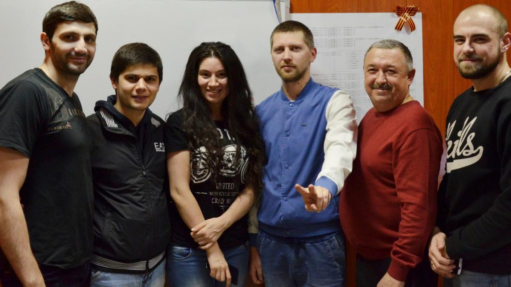 "The stars of Dagestan stage Magomed Alikperov and Anora visited the office of the music publishing house ""Zvuk-M"" the other day"