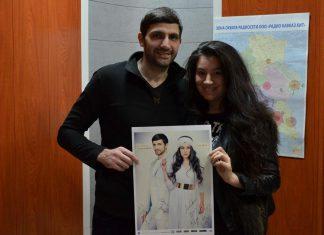 Звезды Дагестанской эстрады Магомед Аликперов и Анора посетили на днях офис музыкального издательства «Звук-М»