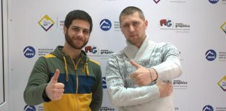 "Aznaur and Janibek Ramazanov visiting ""Sound-M"""