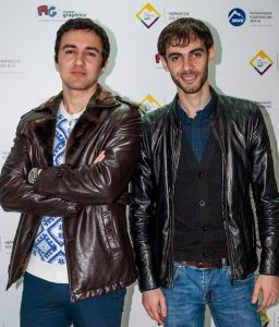 The singer Azamat Pheskhov and director Rifat Bagaudin arrived on a visit to the music publishing house Sound-M