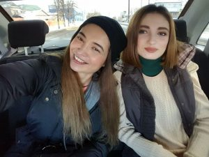On the photo Dinara Elgaytarov and Aminda Murtazova