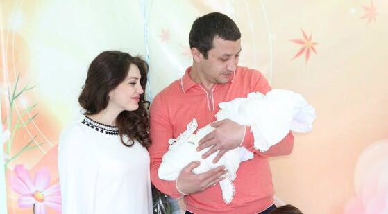 Lilia Shaulukhova, her husband Alim Shibzukhov and their son Hasan.