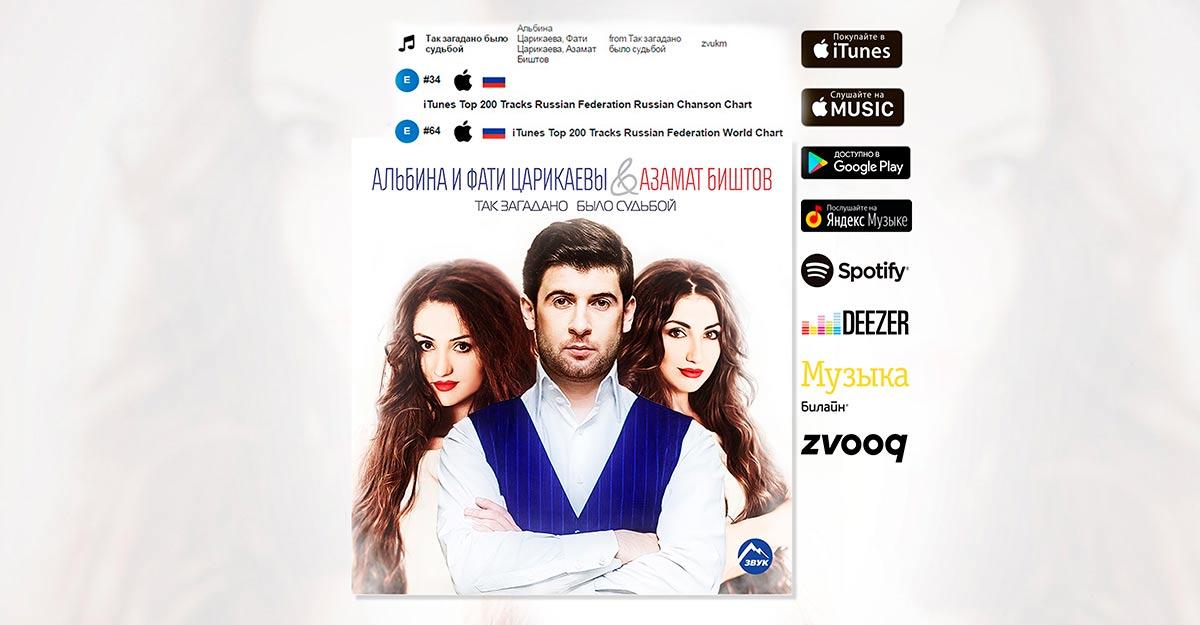 The song of Azamat Bishtov and Albina and Fati Tsarikayevs promptly
