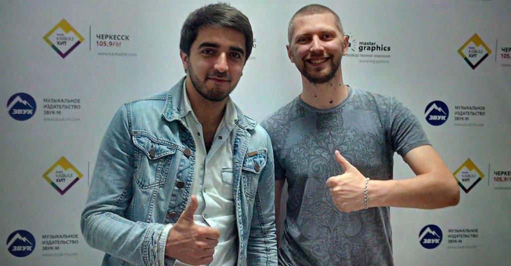 """В офисе музыкального издательства """"Звук-М"""". Shami и Антон Малунеев."""