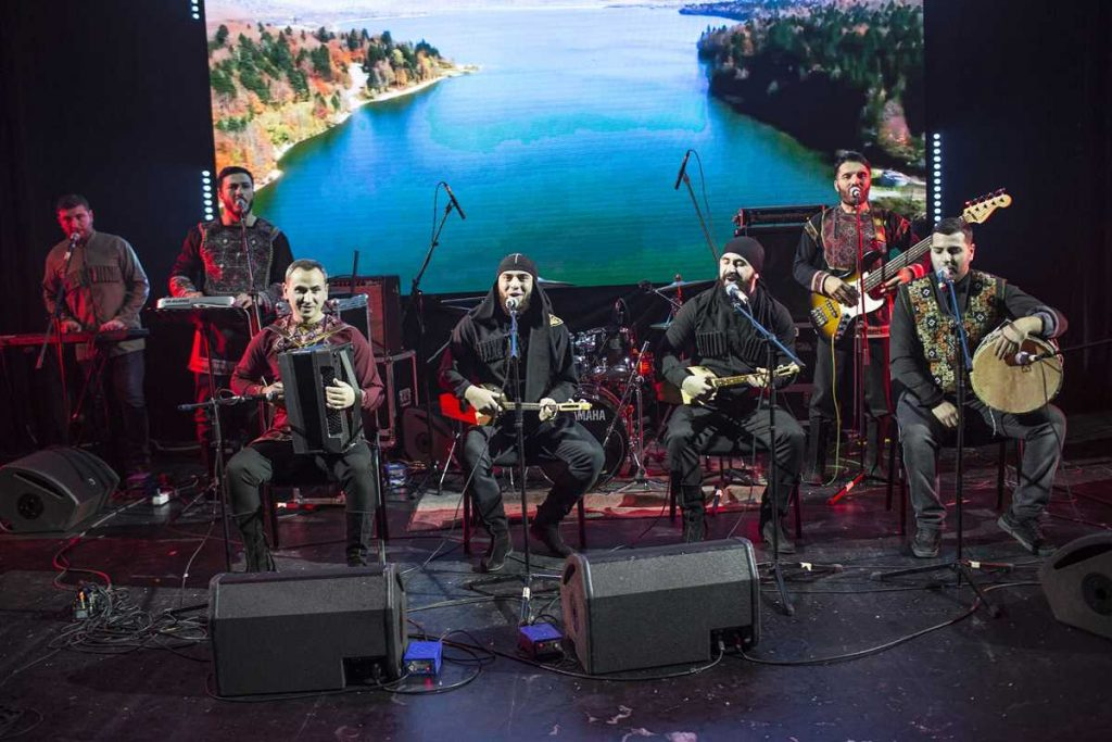 """Caucasian Express in Moscow. Special guests from Georgia - the folk group """"Bani"""""""