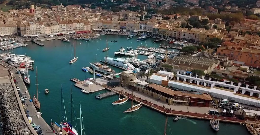 Scenic views of the sunny coast of St. Tropez in Zarina Bugayeva's Sister clip