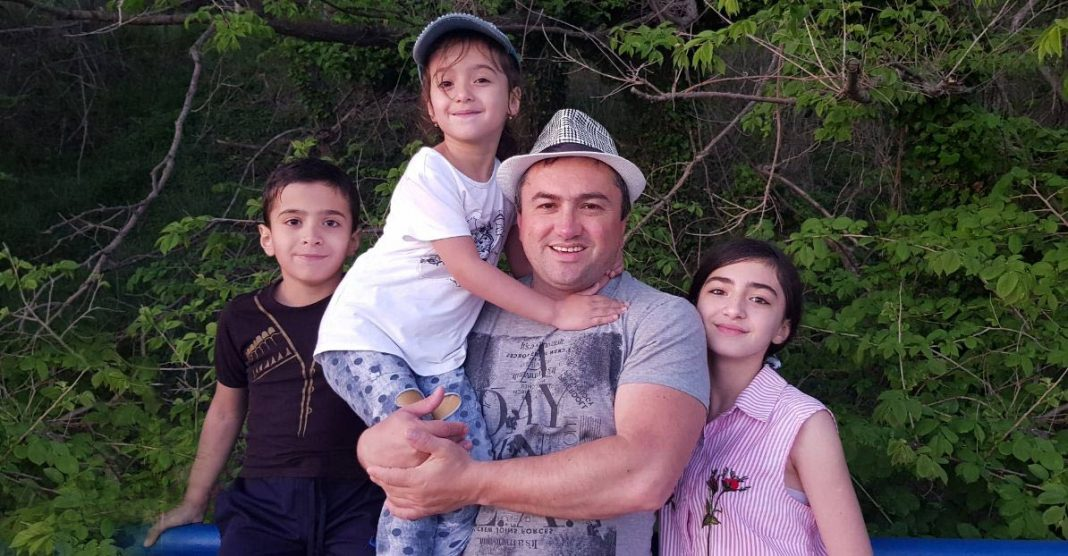 Ruslan Kaytmesov celebrates the anniversary of family