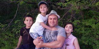 Ruslan Kaytmesov celebrates the anniversary of family