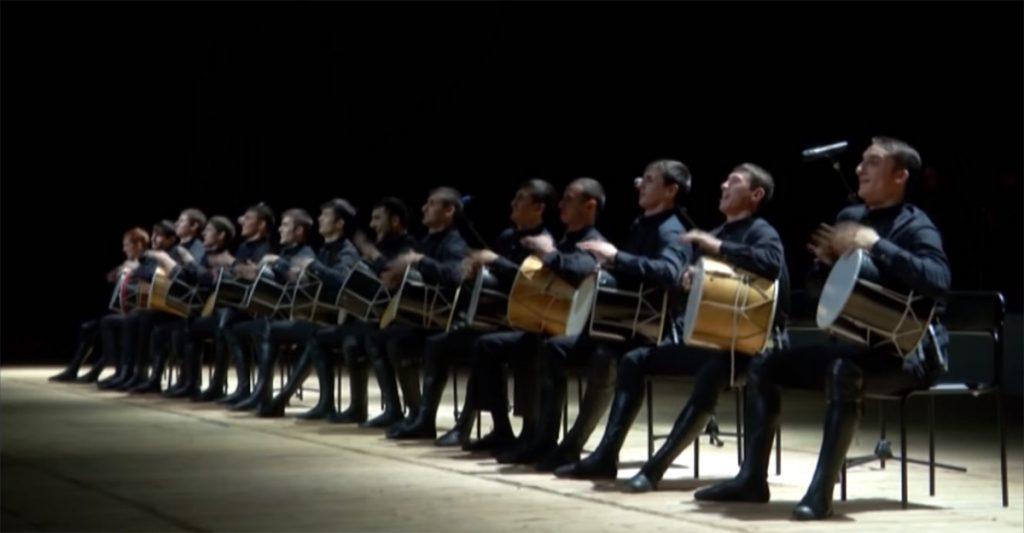 Музыкальные инструменты народов Кавказа. Кавказский барабан и кавказская гармонь.