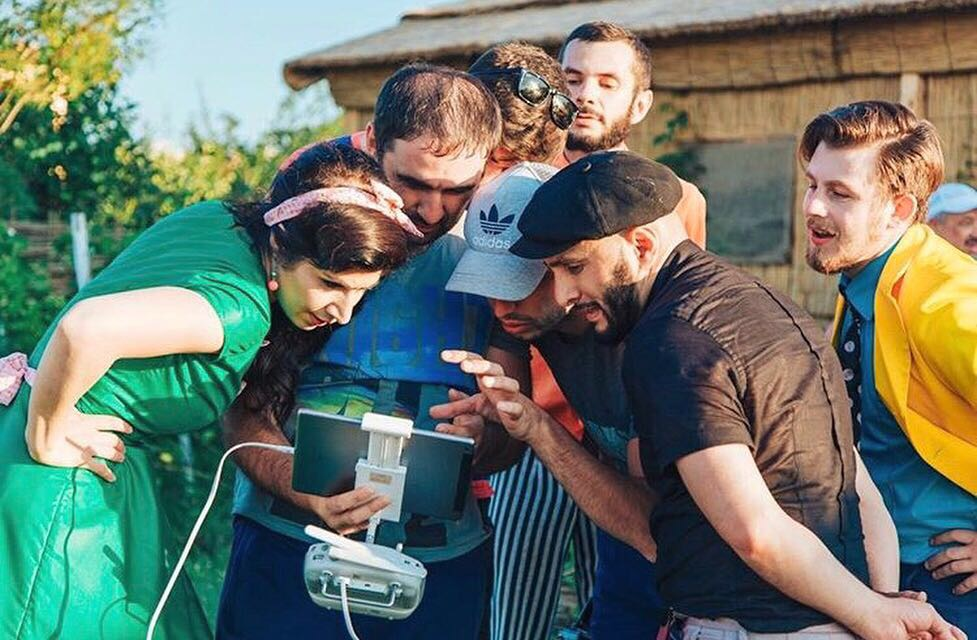 "The crew of the video clip ""Seeds"""