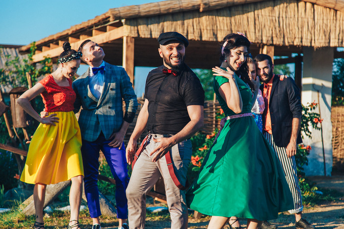 "The crew of the video clip ""Seeds""."