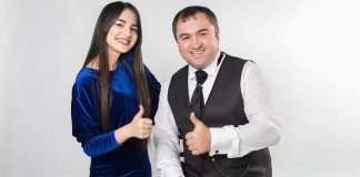 Ruslan Kaitmesov and Ainara Zhelkashiyeva presented the first duet