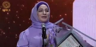 "Makka Mezhieva became the winner of the Music Award ""Song of the Year - 2018"" in Grozny"
