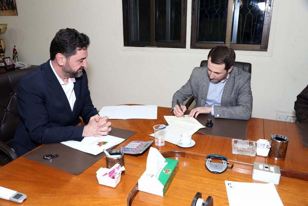 Подписание соглашения о культурном сотрудничестве АРООВАК «ЭТНИКА» и Ахли-Клубом Хашимитского Королевства Иордания