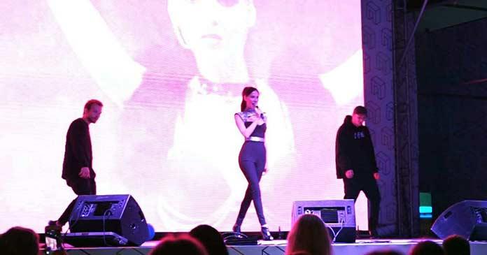 "Oksana Kosova @kosova_music performed the track ""Falling"""