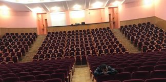 Hall waiting for the audience. Everything is ready! The preparation process requires a lot of effort ... Valu ...