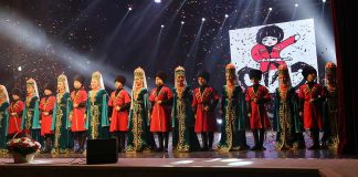 """A video version of the concert of the ensemble """"Naltsuk"""" in Nalchik"""